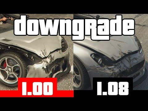 GTAV DOWNGRADE | 1.08 VS 1.00 | Comparison