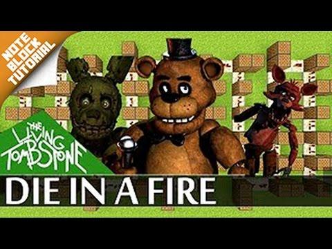 Die in a fire - Fnaf 3 - Minecraft  Note Block Song + Doorbell Tutorial  (The Living Tombstone)