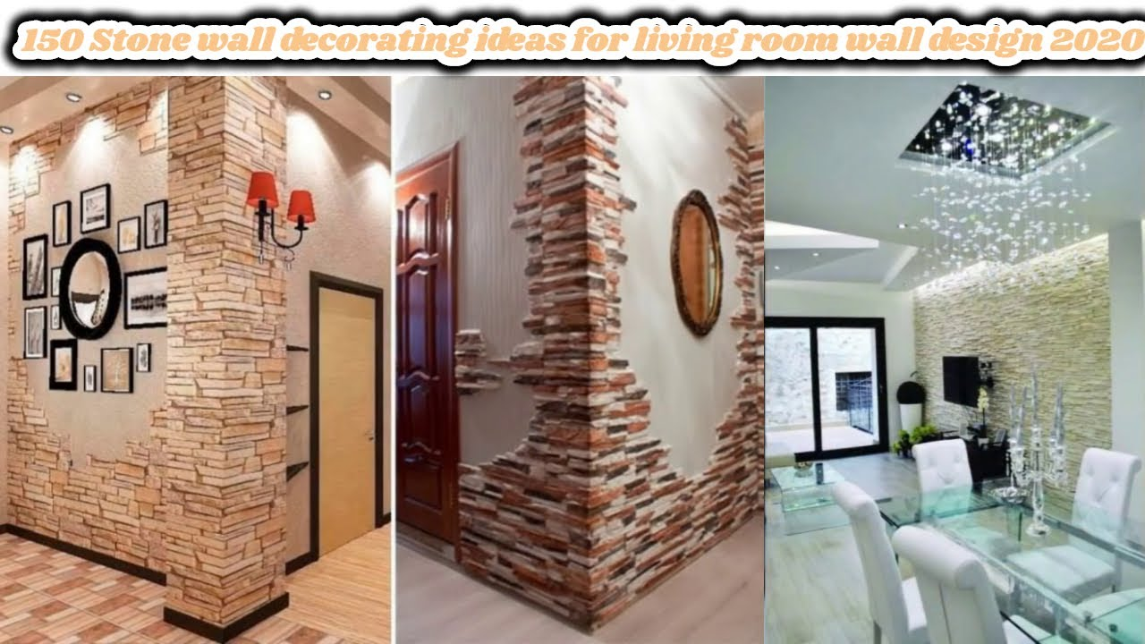 150 Stone Wall Decorating Ideas For Living Room Wall Design 2020 Hashtag Decoration Ideas Youtube