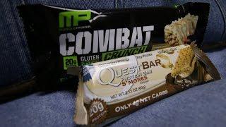Taste Test: Cinnamon Twist Combat Bar Vs. S'mores Quest Bar