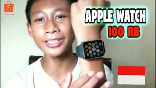Gambar cover Apple Watch harga 100 RB - UNBOXING SMARTWATCH A1/SKY U10