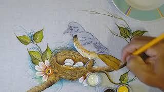 Aprenda a Pintar Pássaro no Ninho – Parte Final