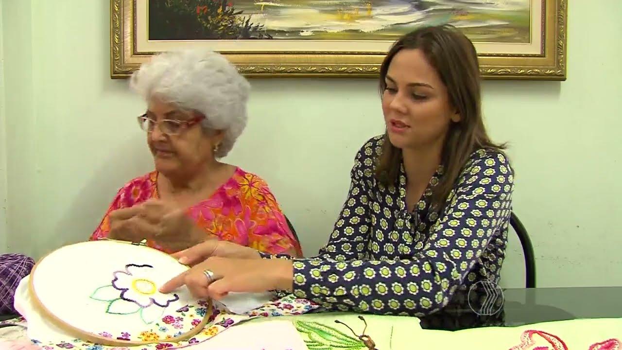 Aparador Adega Preto ~ MANHÃ TOTAL Aula de artesanato bordado livre em pano de prato YouTube