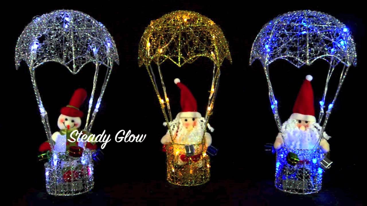 38cm Light Up Hot Air Balloon Christmas Decoration Youtube