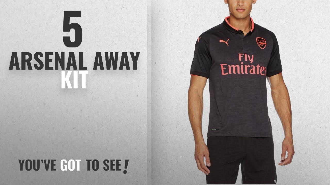 9dfbdb841 Top 10 Arsenal Away Kit  2018   AFC Arsenal London 17 18 Third Kit Replica  Shirt