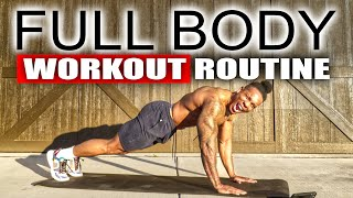 40 MINUTE FULL BODY WORKOUT(NO EQUIPMENT)
