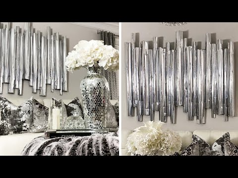 high-end-dollar-tree-diy-home-decor-|-diy-glam-wall-decor-from-foamboard!