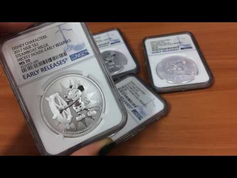 2017 1 oz Niue Silver  1 oz Disney Steamboat Willie NGC MS 70 Early Releases