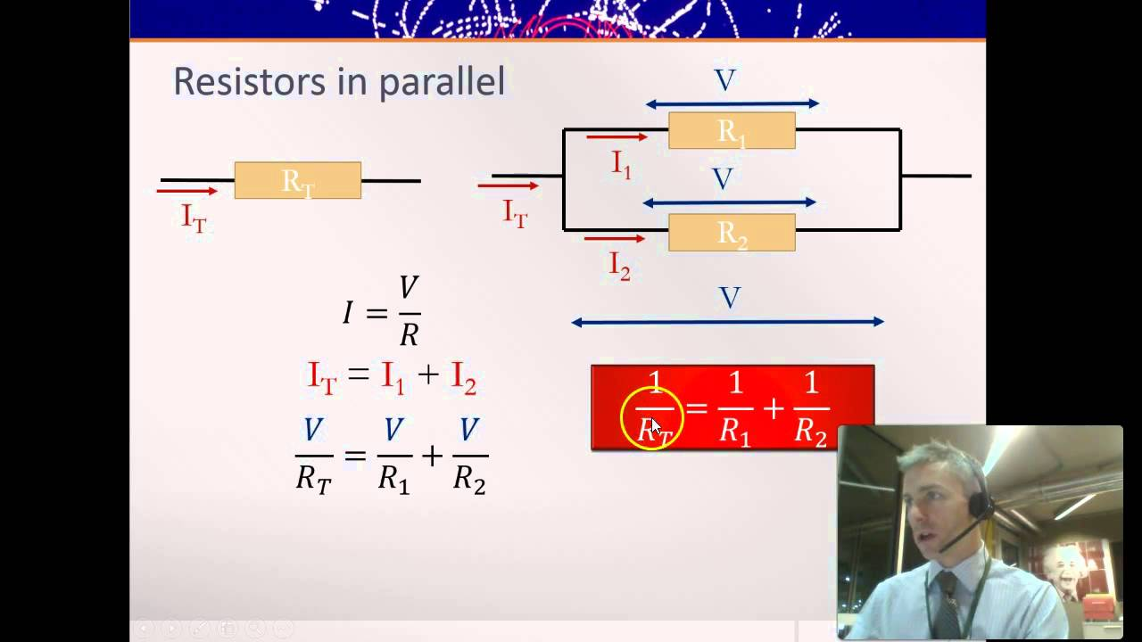 Resistors In Series And Parallel Deriving The Formula Youtube Combined Resistance Of Is Sum All