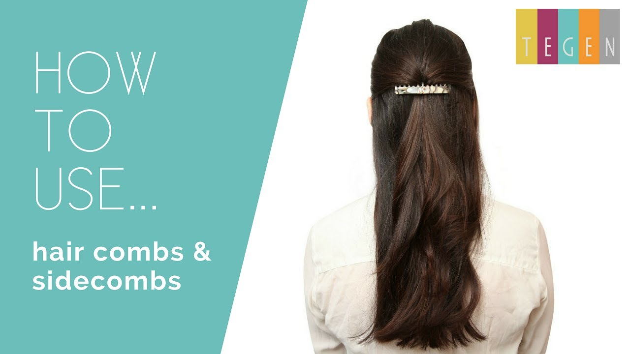 How To Use Side Combs To Pin Your Hair Back Youtube