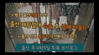 [육아 브이로그] 출산 4박5일 입원 브이로그 / 회복…