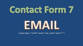 Поле email плагина Contact Form 7 - как настроить, какие параметры принимает