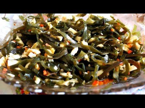 Самый БЫСТРЫЙ салат из морской капусты / пп рецепт