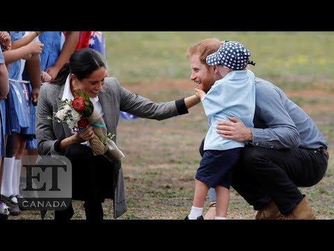 Boy Steals Harry & Meghan's Hearts On Australian Royal Tour