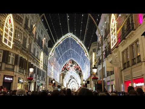 Light show in Larios street - Málaga 2017