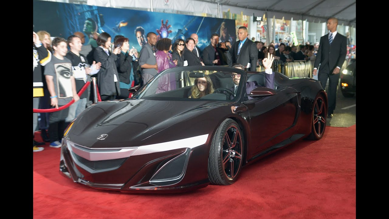 Acura nsx spider at the avengers premiere robert downey for Garage tony auto