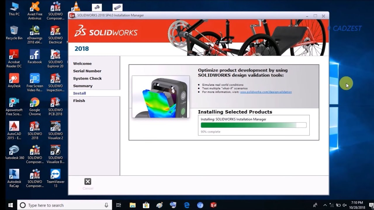 100% Works !! Solidworks 2018 Download/Install/Activation/Crack