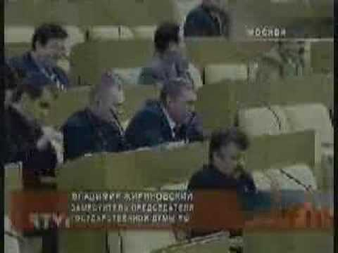 Fight in Russian Duma (Parliament)