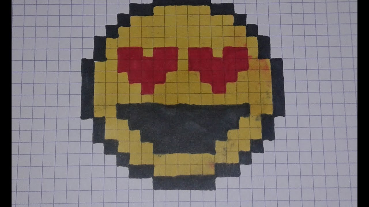 Comment Dessiner Un Smiley Avec Les Yeux En Coeur Tuto Pixel Art
