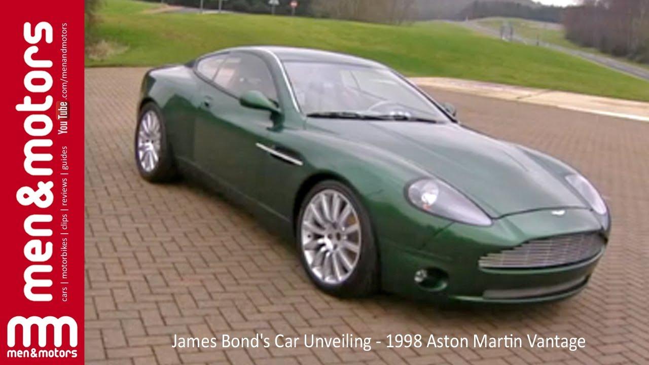 James Bond S Car Unveiling 1998 Aston Martin Vantage Youtube
