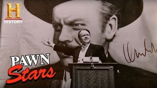 "Pawn Stars: ""Citizen Kane"" Production Still Signed by Orson Welles (Season 14) 
