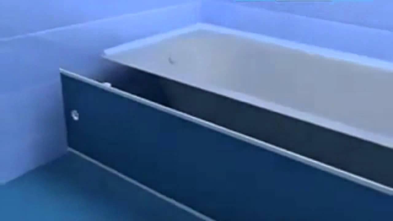 облицовка экрана ванны плиткой.установка люка. - YouTube