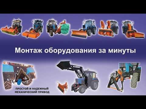 Навесное оборудование для содержания дорог и тротуаров. Щеточная, плужная и фрезо-роторная техника