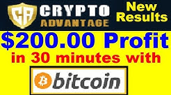 Crypto Advantage Review - $200.00 Profit with Bitcoin! (Must WATCH)