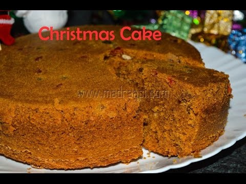 Non Alcoholic Christmas Fruit Cake Recipe From Scratch /  Christmas Fruit Cake Recipe | Madraasi