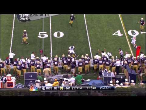 Rice vs. Notre Dame Highlights 2014