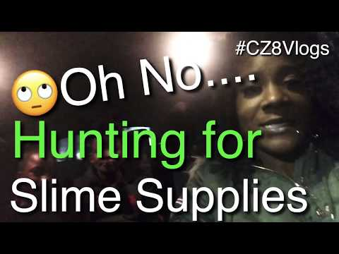😲Oh Noooo...Hunting for V-Day💓Slime Supplies with the Crazy8😜