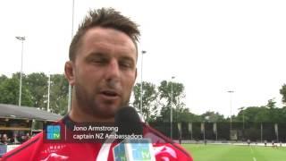 Rugby Nederland tegen New Zealand Ambassadors met de HAKA (18 juni 2016)