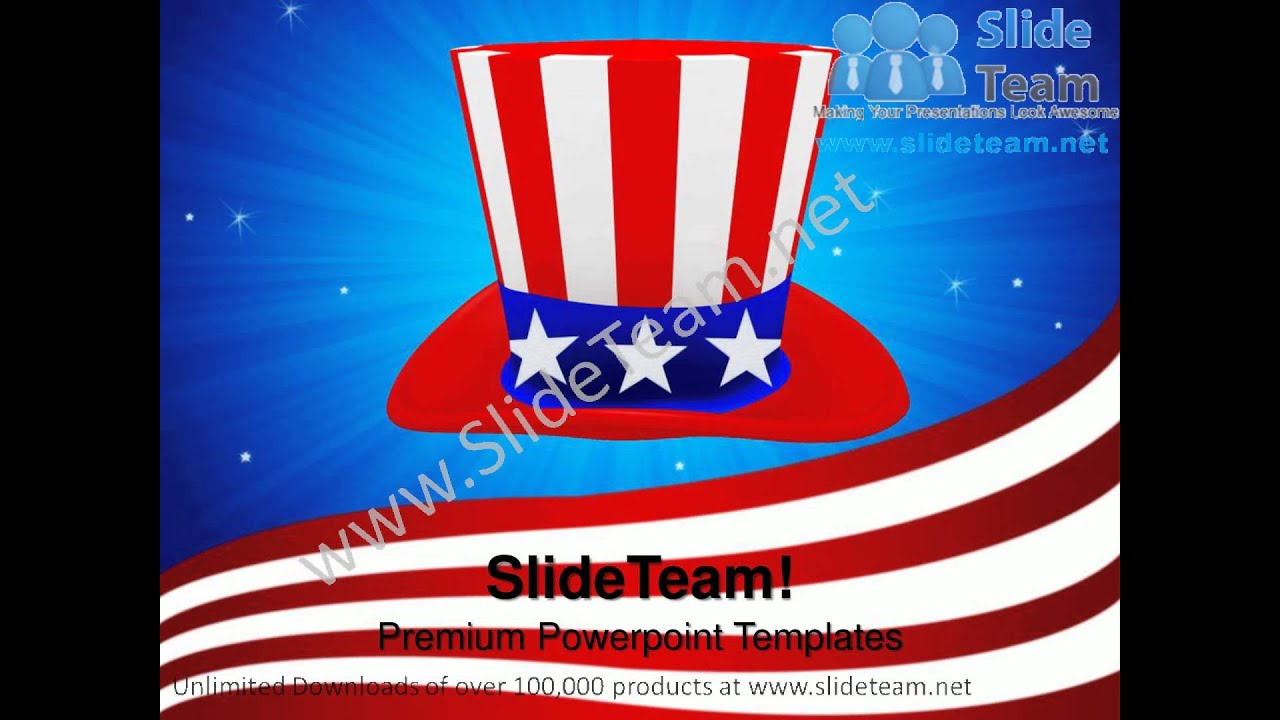 hat with american flag theme nation powerpoint templates ppt themes