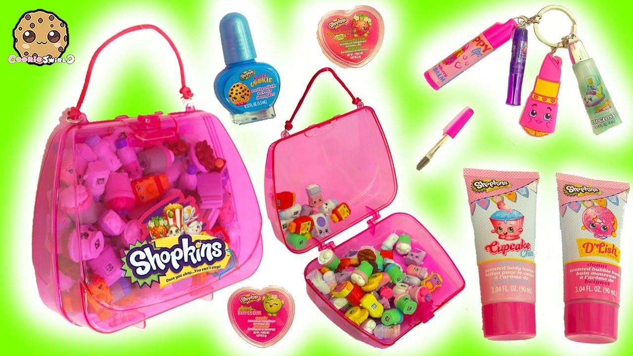 Shopkins Bubble Bath Nail Polish Lipgloss Makeup