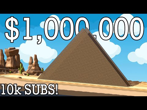 MILLION DOLLAR PYRAMID and other STONE MONUMENTS recreated in Poly Bridge 2! 10k Subscriber Special!