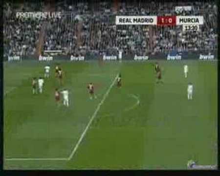Real Madrid 1-0 Real Murcia Wesley Sneijder Goal