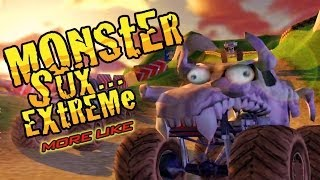 Potatoes on wheels! - Monster Trux Extreme Offroad Edition - GAME CRASH 03