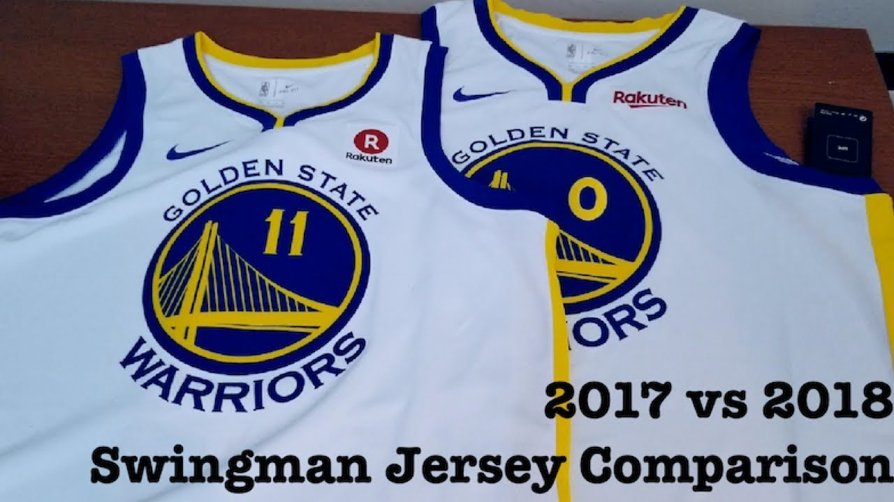 100% authentic 9a111 35a4f 2017 vs 2018 Nike Swingman Golden State Warriors Jerseys