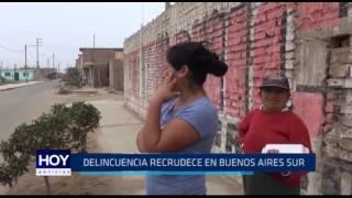 Delincuencia recrudece en Buenos Aires Sur