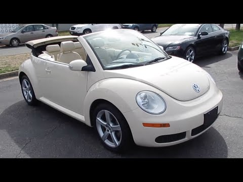2008 Volkswagen Beetle 2.5 S Convertible Walkaround, Start up, Tour and Overview