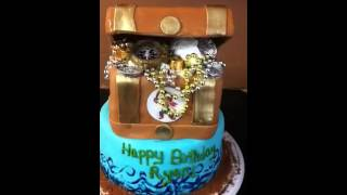 Fondant Treasure Chest Cake Tutorial