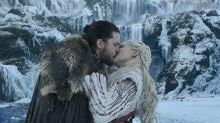 Поцелуй Джона и Дейенерис  — Игра престолов 1 серия 8 сезон