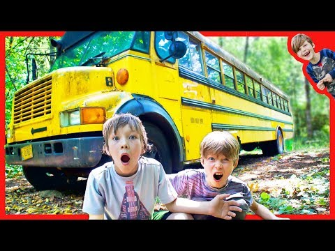 FOUND ABANDONED SCHOOL BUS IN THE WOODS (The Safe Treasure is Real)! |