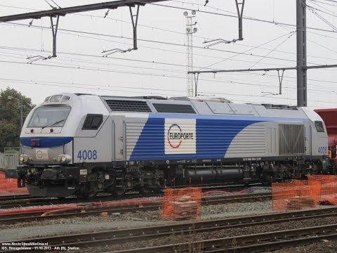Europorte 4008 Vossloh Euro 4000 with scree train @ Ath (B) 11-10-2013