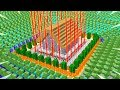 MINECRAFT HOUSE vs 100,000 ZOMBIES! (IMPOSSIBLE...?)