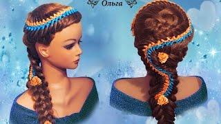 Коса змейка и пятипрядная коса. Kapralova Olga