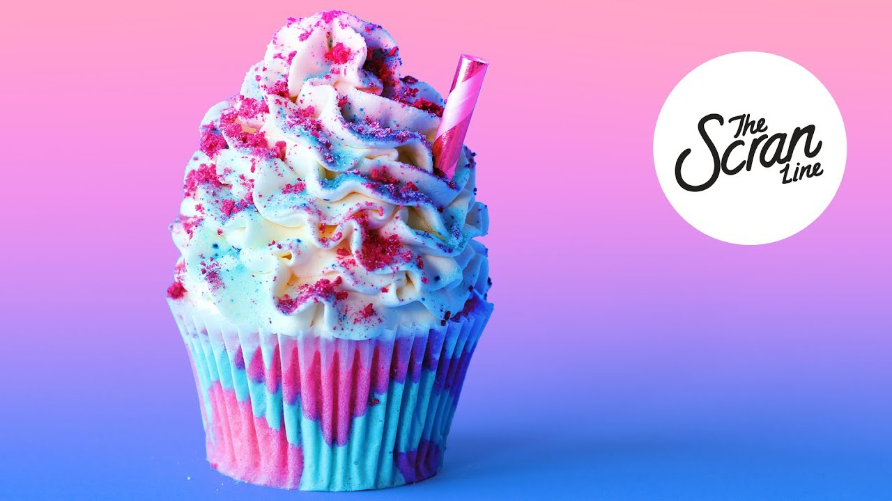 Unicorn Frappuccino Cupcakes The Scran Line Youtube