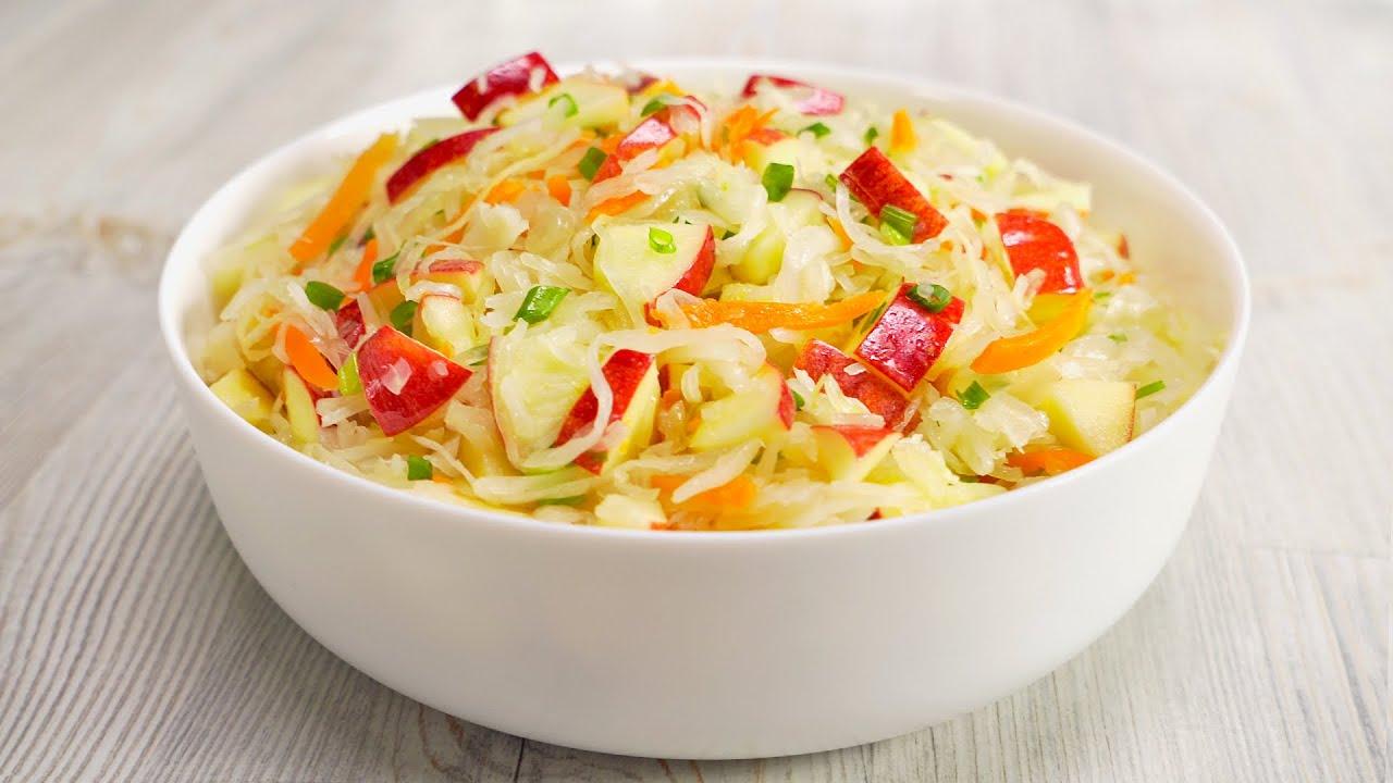 С таким соусом салат из квашеной капусты становится праздничным блюдом! Рецепт от Всегда Вкусно!