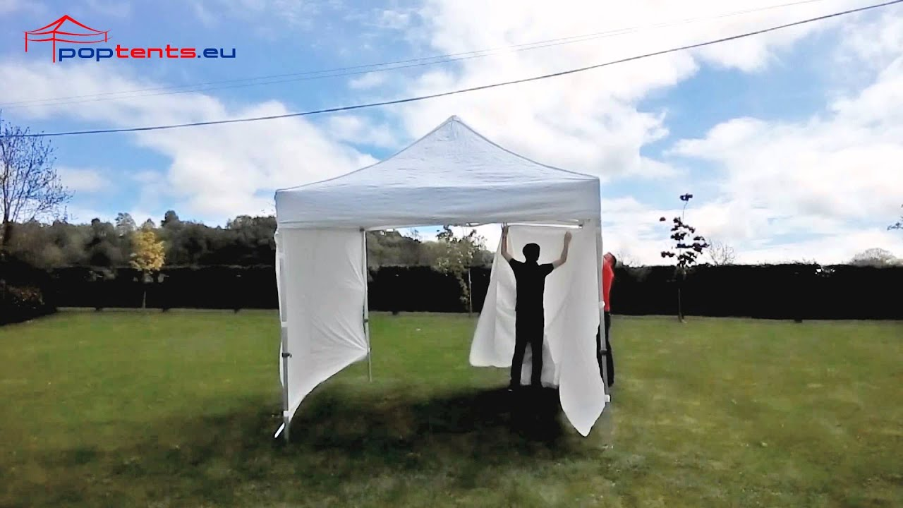 3m x 3m white poptent gazebo & 3m x 3m white poptent gazebo - YouTube