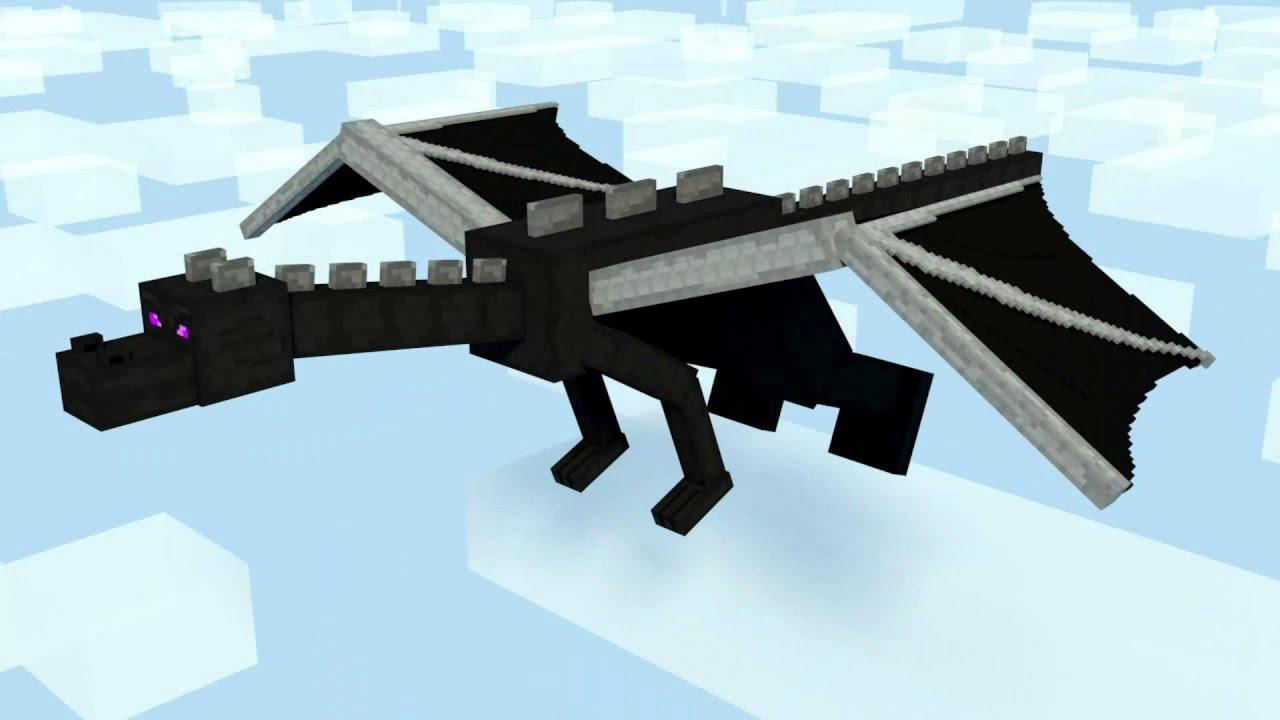 Enderdragon Flying Minecraft Test Animation Hd